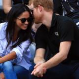 Den britiske prins Harry og hans amerikanske skuespillerkæreste Meghan Markle viste sig for første gang sammen til en officiel begivenhed mandag. Scanpix/Vaughn Ridley