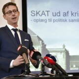 Pressemøde i Skatteministeriet med Skatteminister Karsten Lauritzen, som fremlægger handlingsplan for SKAT. (Foto: Jens Nørgaard Larsen/Scanpix 2015)