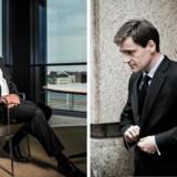 De to pensionsbosser Allan Polack fra PFA (til venstre) og Carsten Stendevad fra ATP forsøger sammen med en dansk kapitalfond at købe Danmarks Skibskredit. Foto: Søren Bidstrup og Asger Ladefoged.