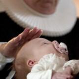 Arkivfoto af dåb