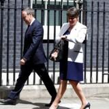 DUP-lederen Arlene Foster ankom tirsdag eftermiddag til Downing Street.