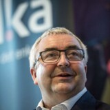 Alkas direktør Henrik Grønborg på pressemødet mandag 4. december 2017 hvor forsikringsselskabet Tryg har offentliggjort, at de køber den mindre rival Alka for 8, 2 mia. kroner.