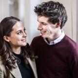 Pressemøde på filmen The Danish Girl søndag d. 22 marts 2015 på Charlottenborg, der starter optagelser i København. Skuespillerne Alicia Vikander og Eddie Redmayne.(Foto: Sophia Juliane Lydolph/Scanpix 2015)