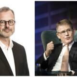 Lars Rebien Sørensen (til højre) havde næppe heller kunnet forestille sig, hvad der siden er sket i den store medicinalvirksomhed, som han gennem 16 år var topchef i, skriver Claus Skovhus. Fotos: Scanpix