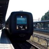 ARKIVFOTo af tog på Aalborg Banegaard.