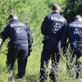 Politiet leder efter bevismateriale nær Würzburg.