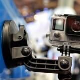 GoPros topkamera, Hero 4, har haft et skuffende salg, fordi mange konkurrerende kameraer er kommet i handelen. Arkivfoto: David Becker, Getty Images/AFP/Scanpix