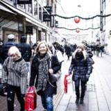 Juletravlhed på strøget i København.