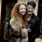 Ove Sprogøe prisen 2016 går i år til Johanne Louise Schmidt. Her med kæresten Thomas Hwan, som hun venter barn med.