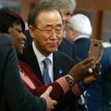 FN's generalsekretær Ban Ki-moon tog afsked med FN fredag,