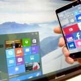 Windows 10 er blevet presset ind på mange også danske PCer og tavle-PCer, fordi Microsoft gjorde det næsten umuligt at opdage og forhindre det. Nu skifter giganten kurs. Arkivfoto: Peter Steffen, EPA/Scanpix