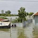 Foto fra oversvømmelsen i Nepal.