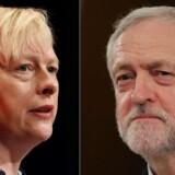 Andrea Eagle har officielt meddelt, at hun stiller op imod Jeremy Corbyn, men partistriden svækker Labour.