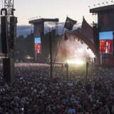 Publikum til Eminem på dette års Roskilde festival.