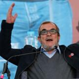 Rodrigo Londoño, der også er kendt som Timochenko, offentliggjorde lørdag sit kandidatur til præsidentvalget i Colombia. Reuters/Jaime Saldarriaga