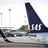 Arkivfoto. Det går fortsat fremad på passagersiden for SAS, der kunne notere sig, at 2,4 mio. passagerer benyttede selskabet i april.