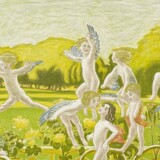 """Også som grafiker arbejdede J.F. Willumsen med mange teknikker, stor spændvidde og vekslede mellem alvor og munterhed. Dette litografi fra 1897 hedder """"Legende Amoriner"""". Pressefoto"""