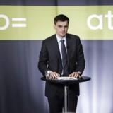 ARKIVFOTO 2014 af Carsten Stendevad, topchef for ATP- - Se RB 25/8 2014 10.35. Danskernes pengetank fik overskud på 7, 7 milliarder. Første halvår gav et overskud på 7, 7 milliarder kroner i ATP, som nu har en samlet formue på 641 milliarder. (Foto: Thomas Lekfeldt/Scanpix 2014)