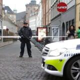Politiafspærring ved Krystalgade i København.