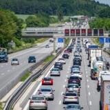Arkivfoto: Autobahn A9 ved Allershausen, Tyskland.
