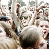 Publikum til koncert med Chinah på Countdown scenen på Roskilde Festival 2016.. (Foto: Emil Hougaard/Scanpix 2016)