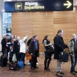 Flypassagerer i Københavns Lufthavn i Kastrup.