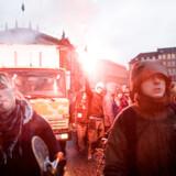 ' Reclaim the streets' var temaet for den demonstration som tirsdag 6. martsw 2007 bl.a. i protest mod lukningen af Ungdomshuset udgik fra Nørreport Station mod Christianshavn.