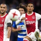 Den danske landsholdsspiller scorede for første gang i sæsonen, da han lavede tre mål i pokalkamp. / AFP PHOTO / ANP / Olaf KRAAK / Netherlands OUT