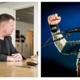 Berlingskes chefredaktør, Tom Jensen og Volbeats forsanger, Michael Poulsen.