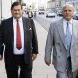 Bjørn Stiedl og hans advokat, Ebbe Mogensen. Foto: Jan Jørgensen