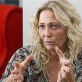 Tidl MEP for Dansk Folkeparti Rikke Karlsson under interview i Bruxelles efter hun blev løsgænger. Foto: Erik Luntang