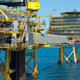 Sådan ser de moderne olieplatforme i Nordsøen ud. På billedet er det Halfdan-feltet, der trådte i produktion i 1999. Billedet er fra 2012.