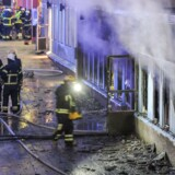Politiet mener, at torsdagens brand i en moské nær den svenske hovedstad er påsat.