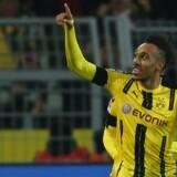Dortmunds Pierre-Emerick Aubameyang var en af kampens helt store spillere, da Dortmund tog imod Bayern München. Scanpix/Ina Fassbender