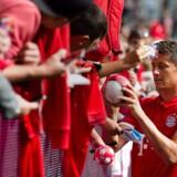 Kampen mellem Robert Lewandowskis (billedet) Bayern München og Werder Bremen var angiveligt målet for et nu fængslet IS-medlem.