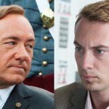 Kevin Spacey som Frank Underwood og Morten Messerschmidt - som Morten Messerschmidt.