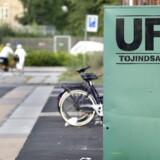Tidligere så UFFs containere ud som denne. På de offentlige genbrugspladser i hovedstadsområdet fremgår det dog ikke, at UFF stå for driften - ifølge UFF efter ønske fra Amager Ressourcecenter.