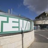 Teva Teva Pharmaceutical Internationals logo i hovedkvarteret i Jerusaem. EPA/ATEF SAFADI