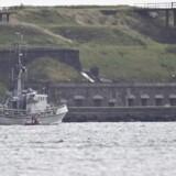 Eftersøgning af ubåd ved Middelgrundsfortet ud for København, fredag den 11. august 2017. Verdens største privatbyggede ubåd 'Nautilus' med to personer, u-bådens ejer Peter Madsen samt en journalist ombord, er fredag den 11. august 2017 meldt savnet, efter den ikke er vendt tilbage til sin kajplads.. (Foto: Liselotte Sabroe/Scanpix 2017)
