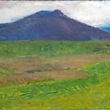 Landskabet var hovemotivet for den islandske maler Juliana Sveinsdóttir, der var en af de første kvinder, der blev optaget på Kunstakademiet. Nu viser Sophienholm en udstilling om hende med blandt andet landskabsmalerier fra Island. Pressefoto