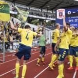 Sportsligt går det fint i Brøndby If, der ligger nummer et i Superligaen. Men økonomisk er der fortsat problemer med at få indtægter og udgifter til at hænge sammen. Scanpix/Bo Amstrup