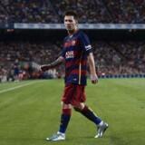 Lionel Messi på banen på Camp Nou. Argentineren vil formentlig være historie i Barcelona, når det nye Camp Nou forventes at stå færdig i 2021.