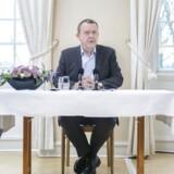 Pressemøde med statsminister Lars Løkke Rasmussen efter efter regeringsseminaret på Kragerup Gods. Offentlighedens opfattelse af regeringens smykkeforslag er »fuldstændigt forkert«, mener statsministeren.