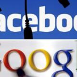 Facebook og Google logo.