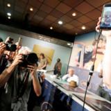 """TFransk films Gudfar, Jean-Luc Godard, afholdt pressemøde via Facetime. Her fortalte han om sin nyeste film """"Le Livre D'Images"""" PX IMAGES OF THE DAY"""