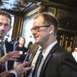 Cepos' cheføkonom, Mads Lundby Hansen, i selskab med Venstres næstformand, Kristian Jensen.