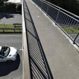 Arkivfoto af motorvejsbro i Aalborg