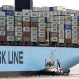 Verdens største containerskib, Mærsk Line.