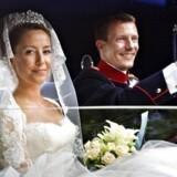 Fra dengang alt var fryd og gammen: Prins Joachim og Prinsesse Marie tiljubles i Møgeltønder efter brylluppet i 2008.