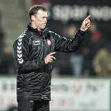 AaB-træner Morten Wieghorst går efter de tre point mod Horsens og en placering i den sjove ende af tabellen. Scanpix/Henning Bagger